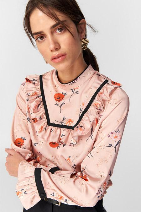TRENDYOLMİLLA Desenli Biye Detaylı Bluz