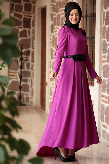 b60a12b0d347f Fuşya Abiye Elbise, İndirimli Satın Al, Online Alışveriş, Sipariş ...