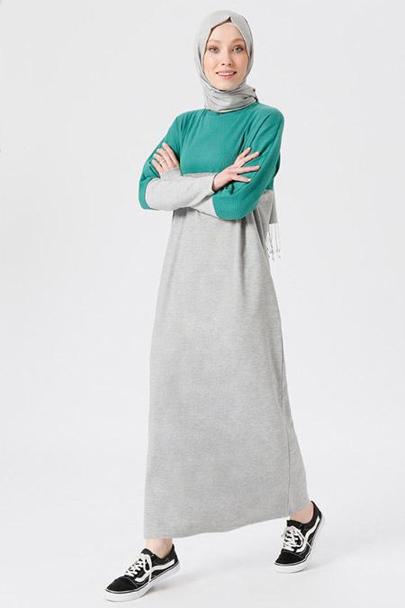 Benin Yeşil Garnili Elbise