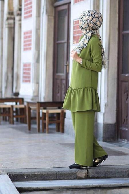Butik Minya Yeşil Simay Takım