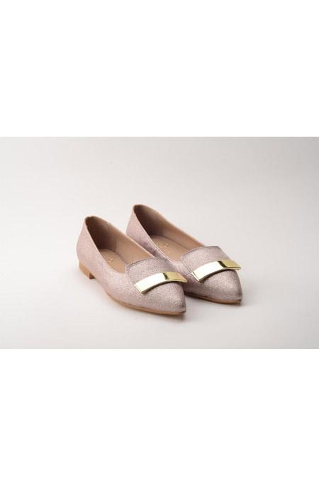 Comert Ayakkabı Pudra Simli Ayakkabı