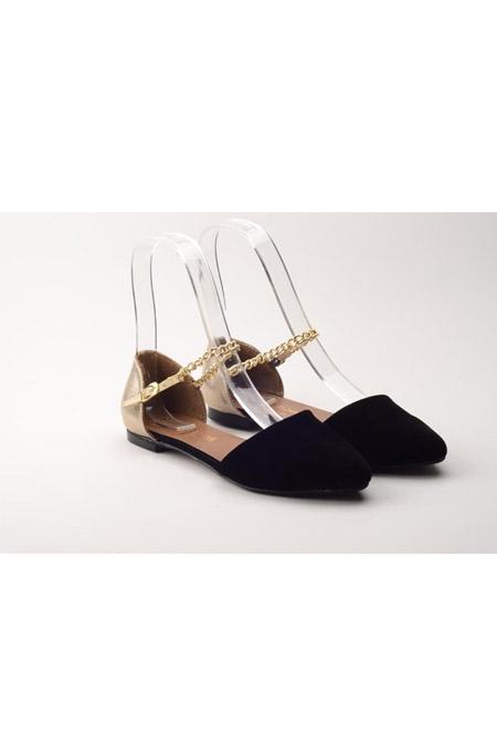 Comert Ayakkabı Siyah Altın Ayakkabı