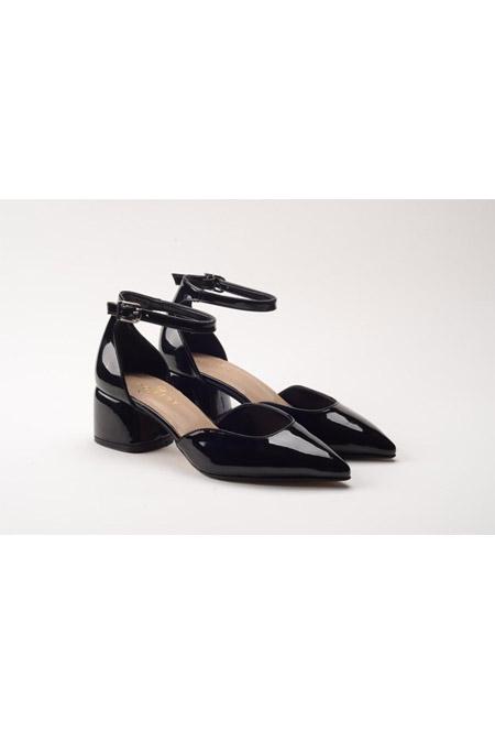 Comert Ayakkabı Siyah Rugan Ayakkabı