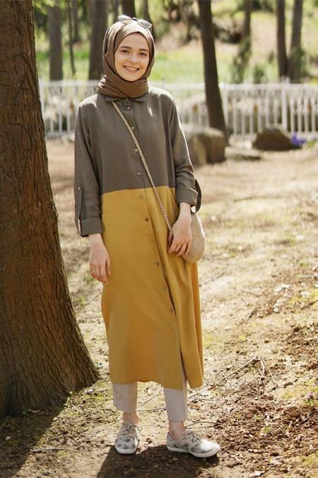 Esra Kesin Demir Hardal Sarı Tunik
