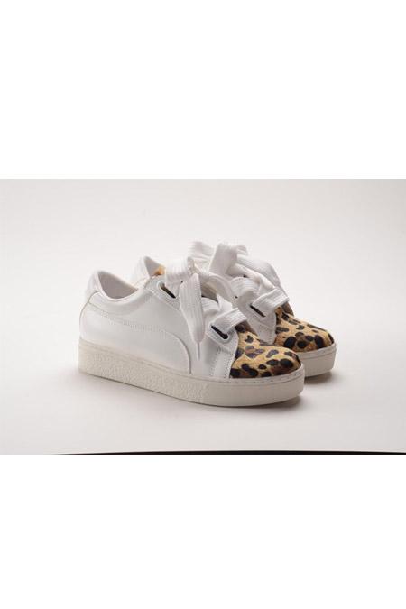 Marcatelli Beyaz Leopar Ayakkabı