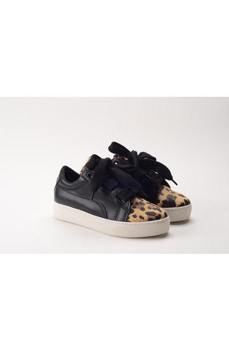 Marcatelli Siyah Leopar Ayakkabı
