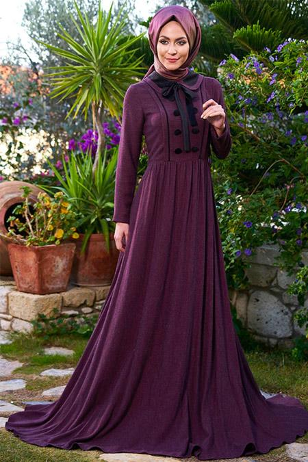 Minel Aşk Mor Şili Elbise