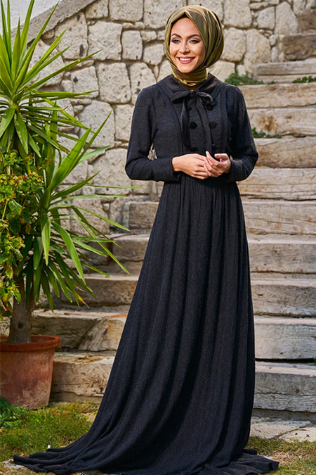 Minel Aşk Siyah Şili Elbise