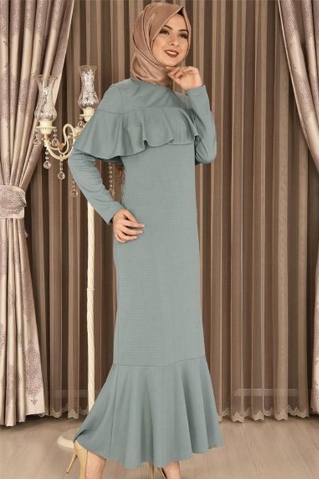 ModaMerve Mint Bolero Görünümlü Elbise