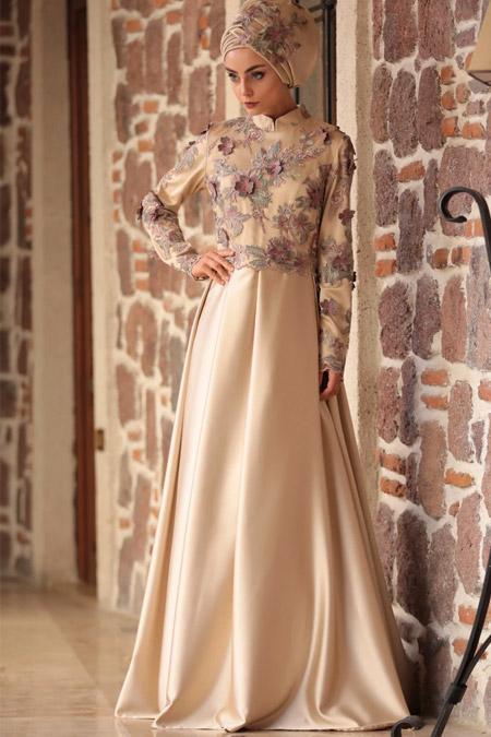 Nurbanu Kural Gold Berra Abiye Elbise