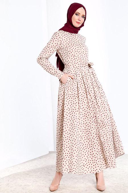 Refka Kırmızı Doğal Kumaşlı Boydan Düğmeli Elbise