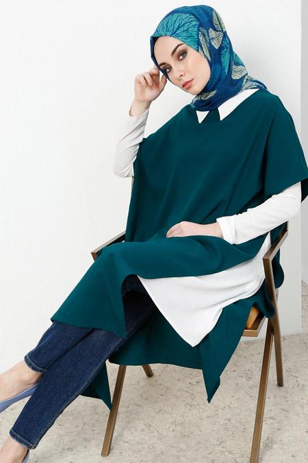 Refka Zümrüt Gömlek Tunik Takım