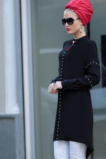 Selma Sarı Design Siyah Silva Tunik