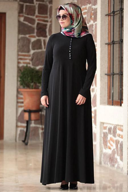 Amine Hüma Siyah Hatun Elbise