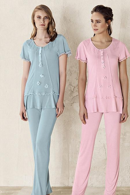 Artış Collection Pudra Dantel Detaylı Pijama
