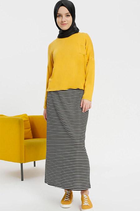 Benin Hardal Kolsuz Elbise & Bluz İkili Takım