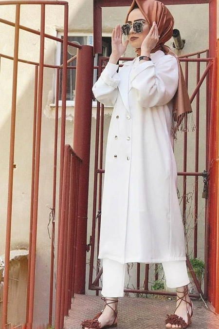 Butikkolikkk Beyaz Ceket