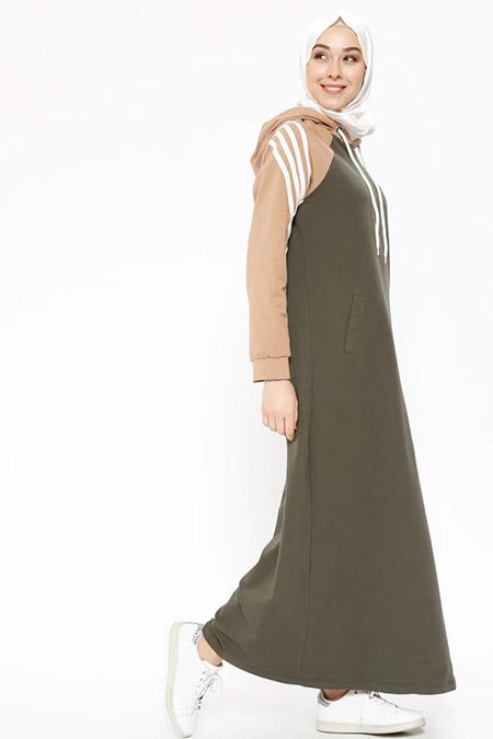 f100b1b14698b Bwest Haki Kapüşonlu Spor Elbise Online Satış, İndirimli Satın Al