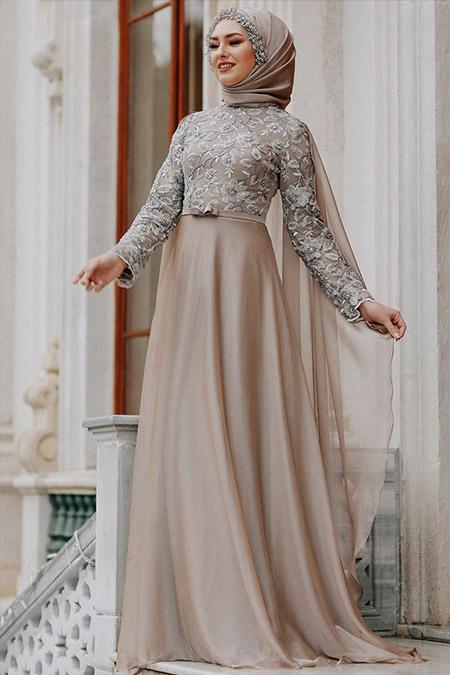 Eldia By Fatıma Vizon Şayla Abiye Elbise