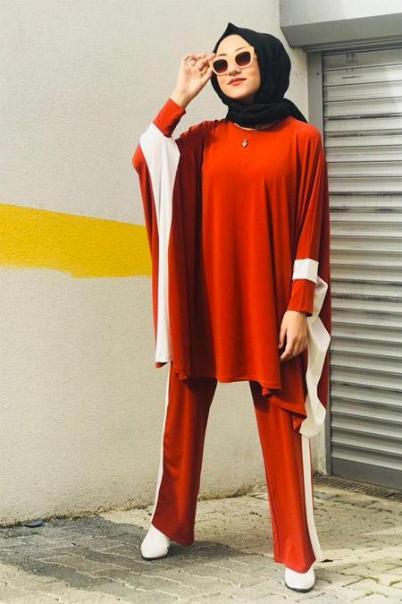 Feyzan Design Kırmızı Çizgili Takım