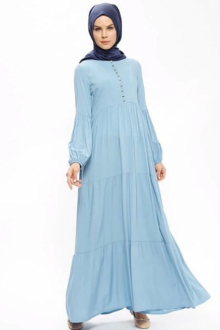 Ginezza Bebe Mavi Biritli Elbise