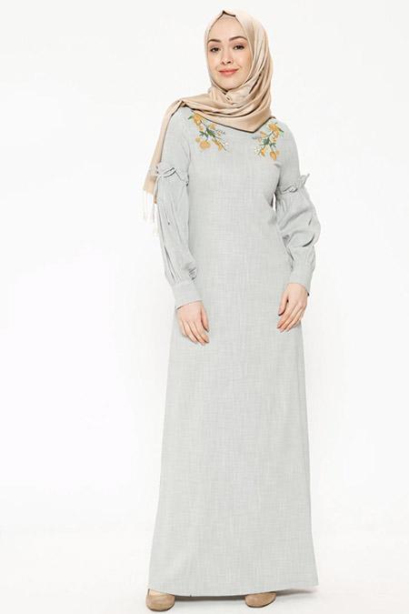 Ginezza Haki Desenli Elbise
