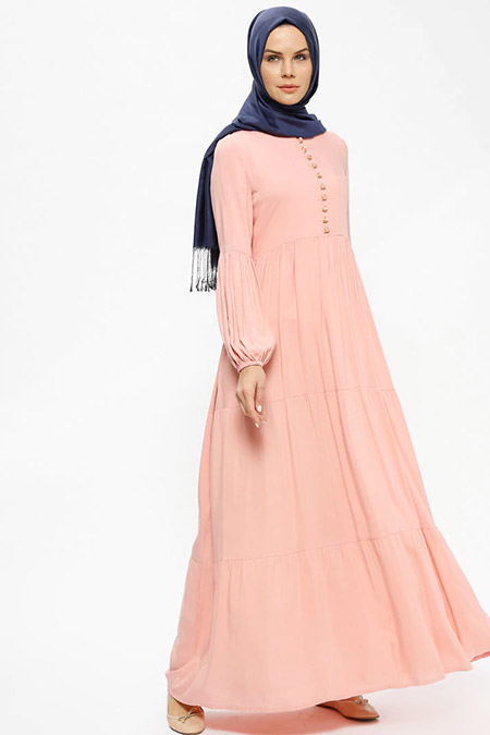 Ginezza Pudra Biritli Elbise