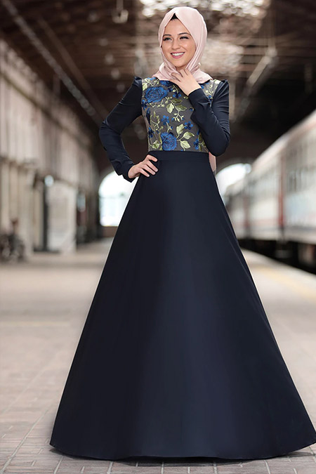 Al Marah Lacivert Zara Elbise