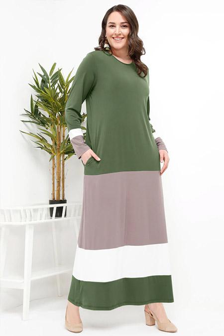 Alia Haki Garnili Elbise