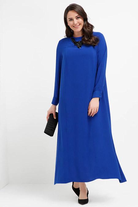 Alia Saks Düz Renk Elbise