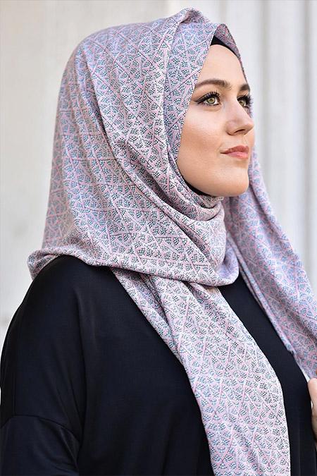 Argite Eşarp Desenli Pamuk Şal