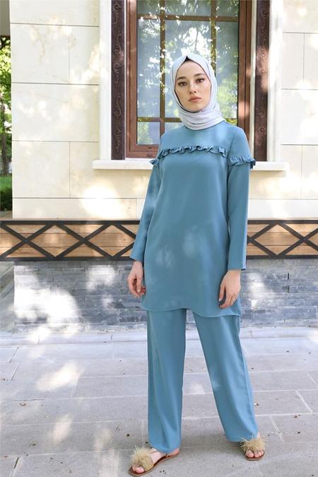 Butik Minya Mavi Takım