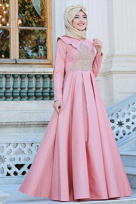 Gamze Özkul Somon Buket Abiye Elbise
