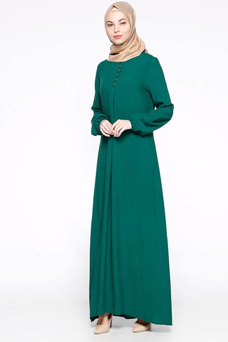 Ginezza Açık Yeşil Birit Detaylı Elbise