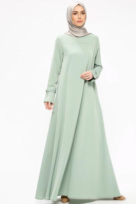 Ginezza Yeşil Cepli Elbise
