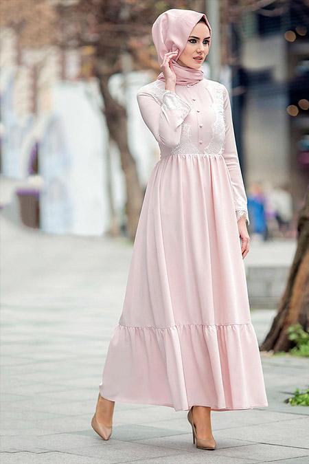 Gizem Kış Pudra Eslem Elbise