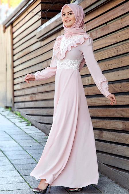 Gizem Kış Pudra Çalıkuşu Elbise