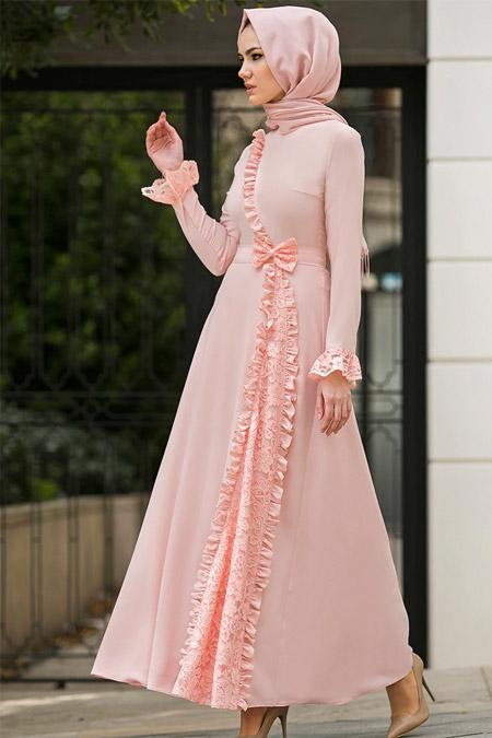 Gizem Kış Pudra Erva Elbise