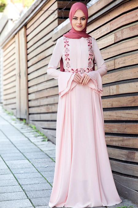 Gizem Kış Pudra Vera Elbise
