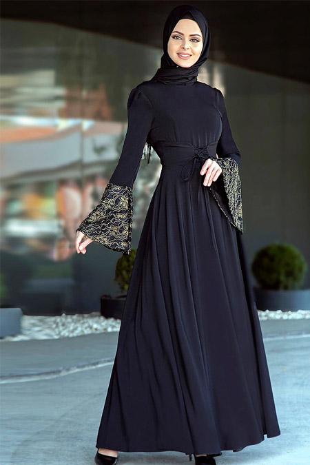 Gizem Kış Siyah Aden Elbise