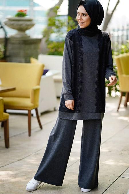 İnşirah Antarasit Tunik Pantolon İkili Takım