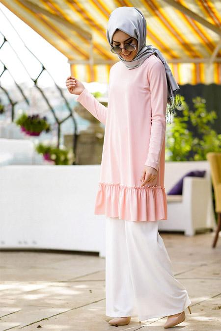 İnşirah Somon Tunik Pantolon İkili Takım
