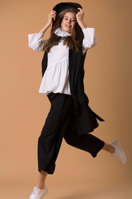 JAQAR Siyah Midi Pantolon
