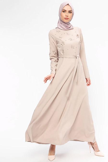 Jamila Bej İnci Süslemeli Elbise