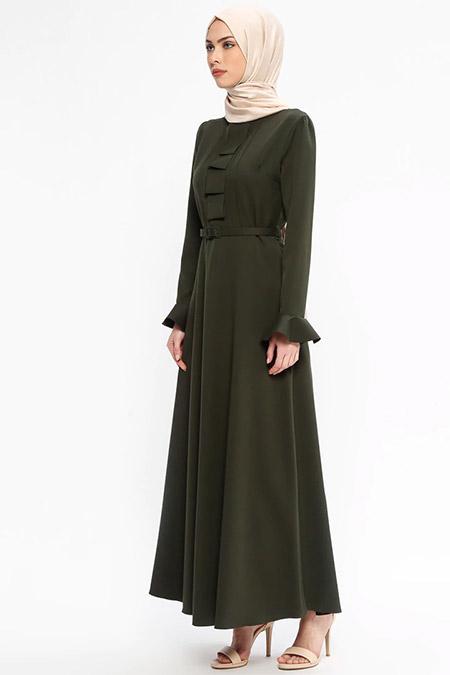 Jamila Haki Yaka Detaylı Elbise