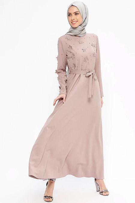 Jamila Vizon İnci Süslemeli Elbise