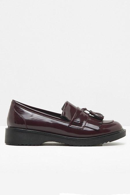 Koton Bordo Püskül Detaylı Loafer Ayakkabı