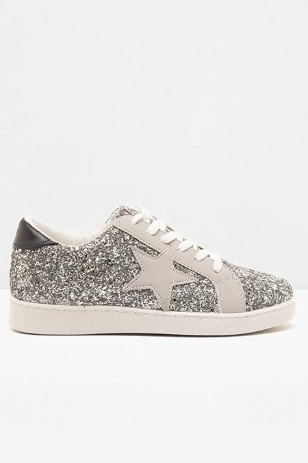 Koton Gümüş Bağcıklı Ayakkabı
