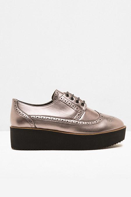 Koton Gümüş Bağcıklı Loafer Ayakkabı