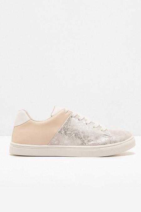 Koton Gümüş Bağcıklı Spor Ayakkabı